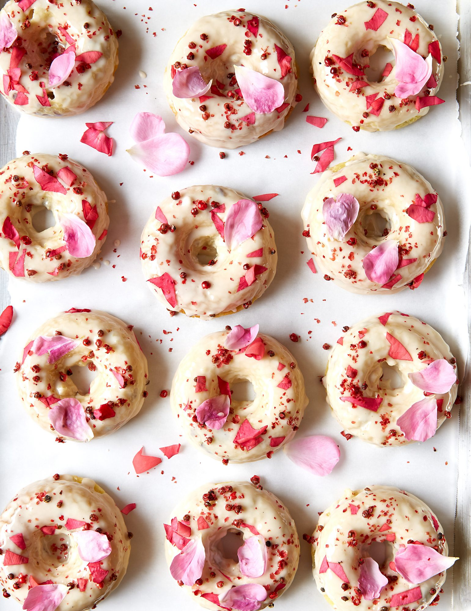 Pink Peppercorn and Rose Tea Cakes