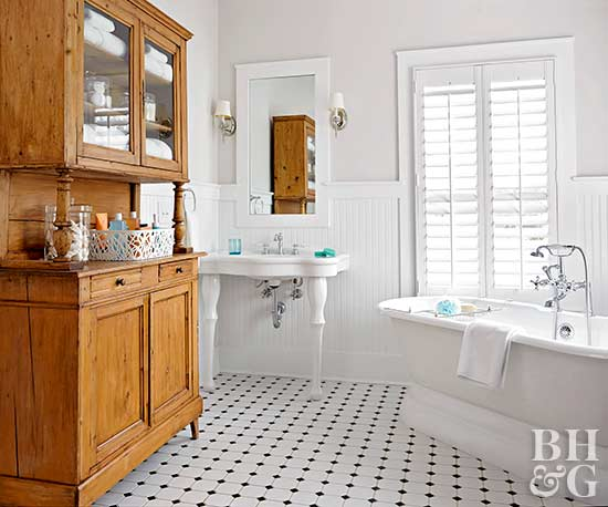 traditional white bathroom