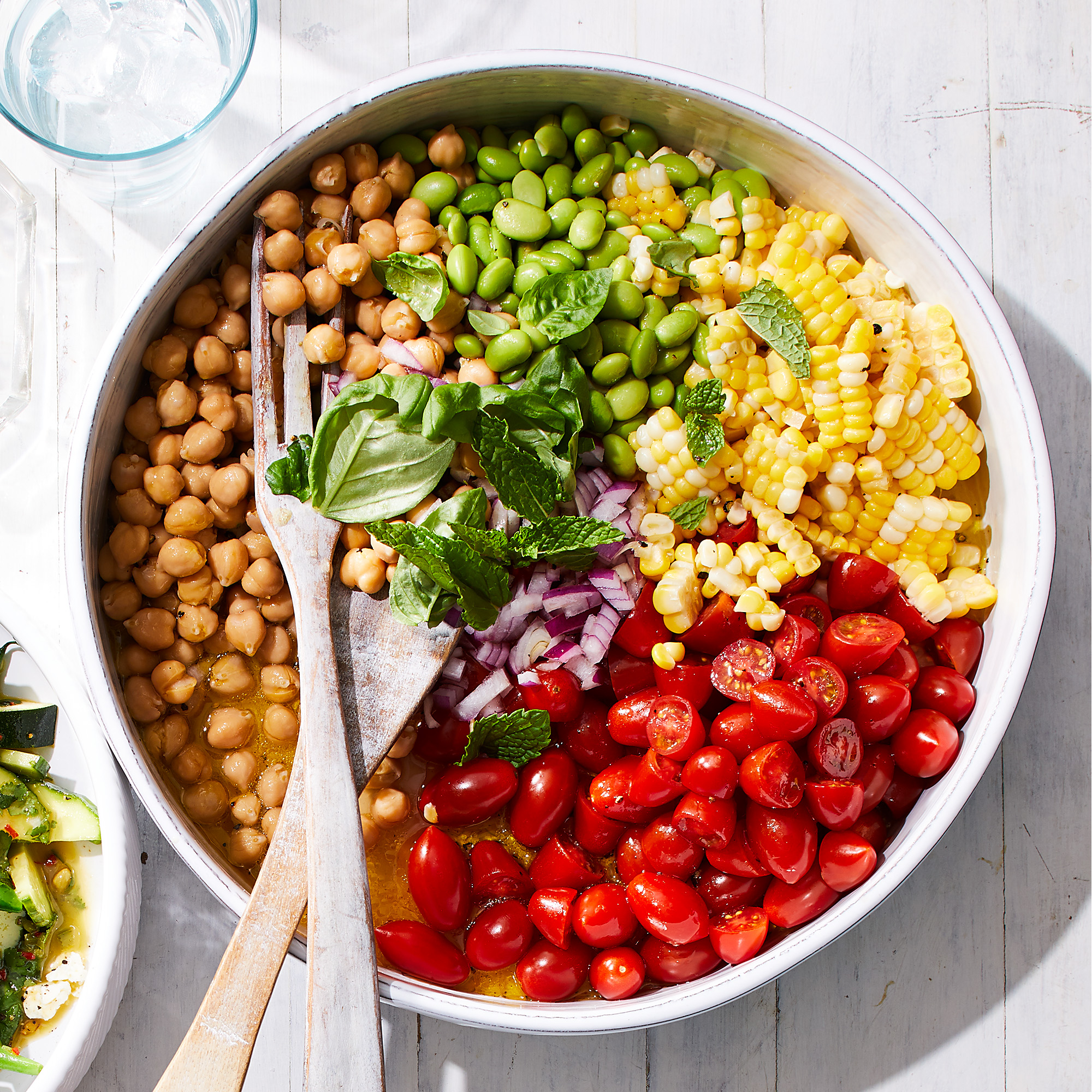 bowl of bean corn and tomato salad