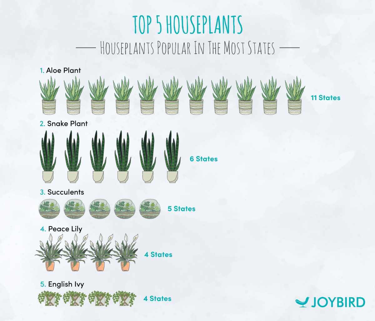 houseplants, chart