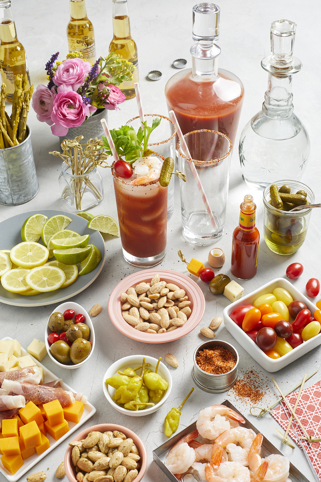 ingredient station for bloody marys
