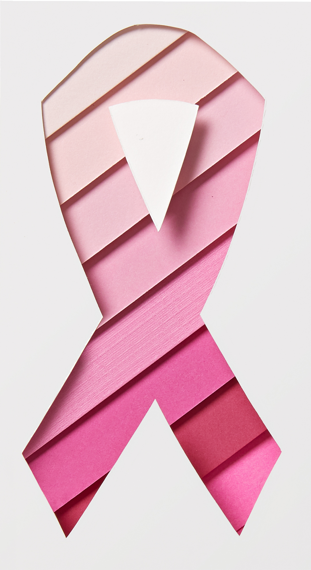 breast cancer ribbon design made of paper