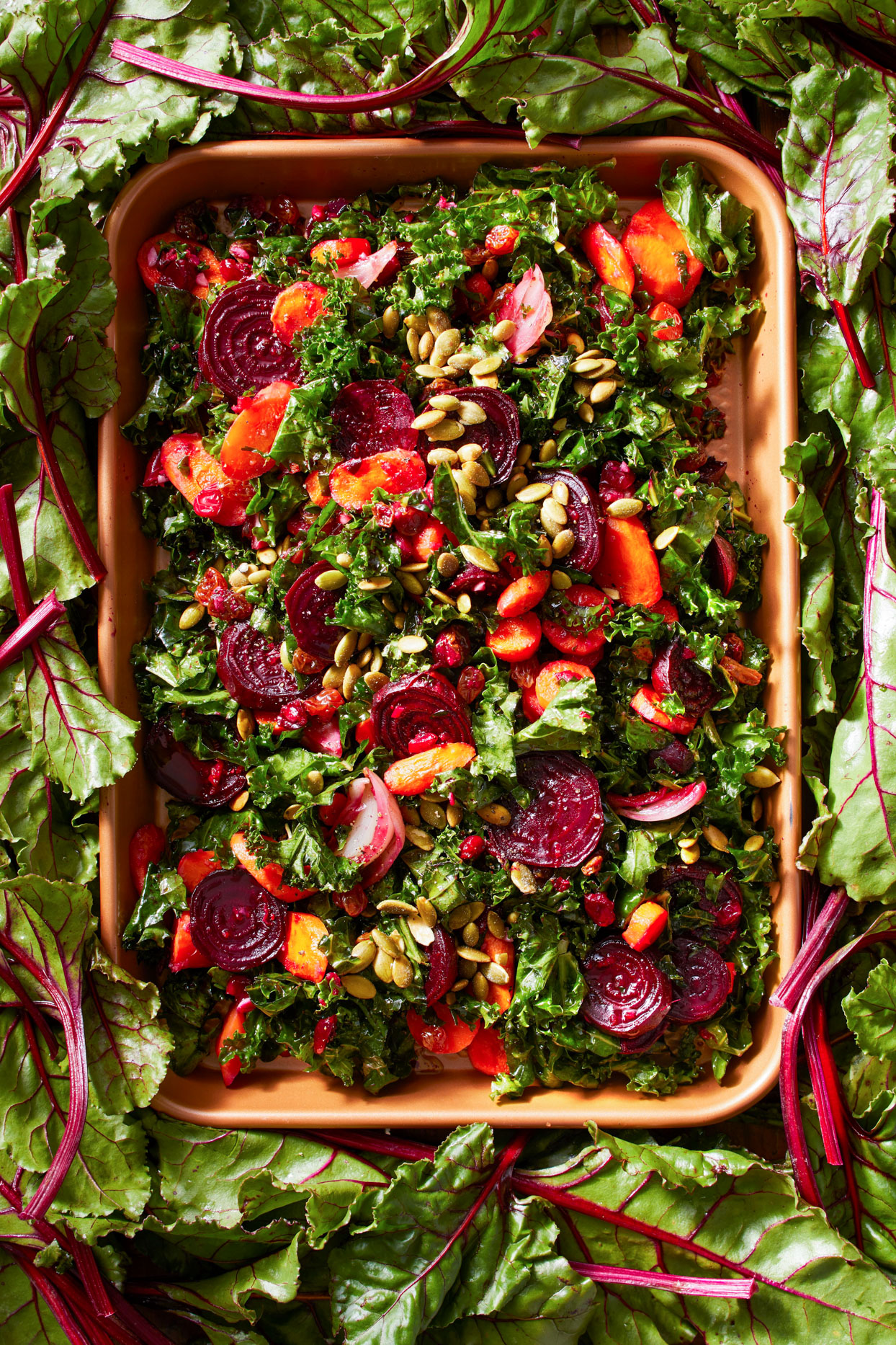 Kale, Cranberry, and Roasted Root Vegetable Salad