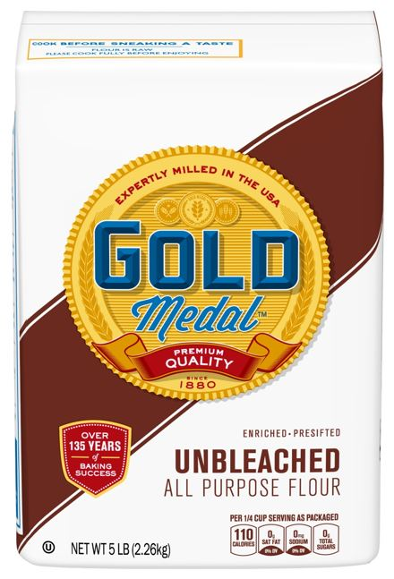 Packaging for Gold Medal Unbleached All Purpose Flour