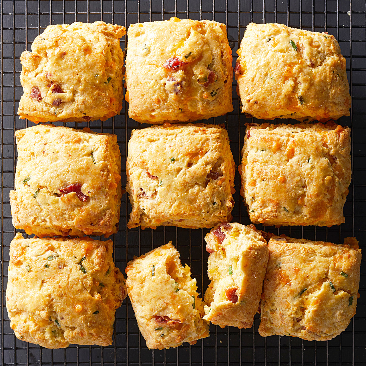 Bacon-Cheddar Cornmeal Biscuits
