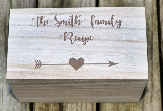 personalized recipe box smith family