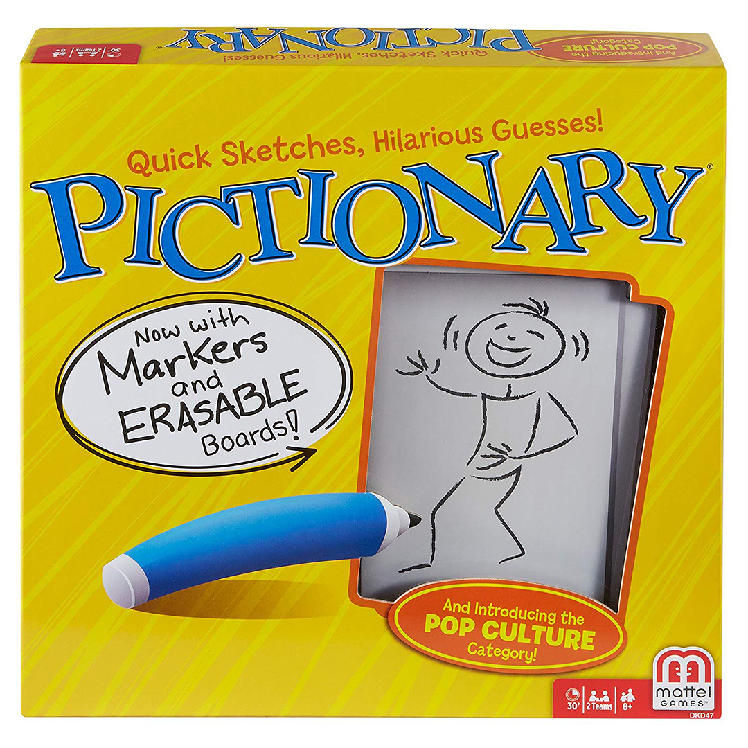 pictionary board games for families box