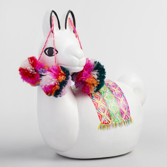 llama coin bank for kids from cost plus world market