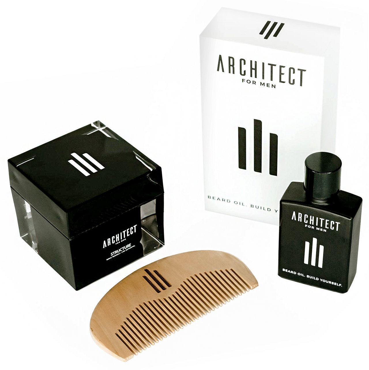 beard oil bundle by architect for men