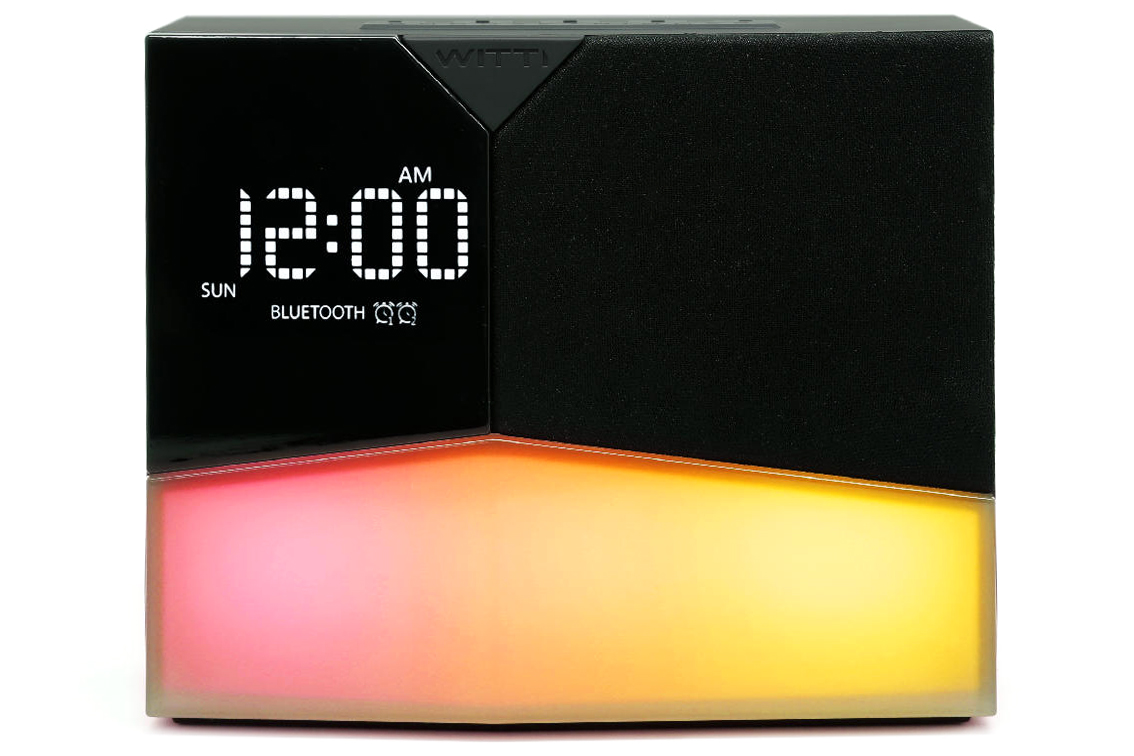 bluetooth alarm clock and speaker beddi glow