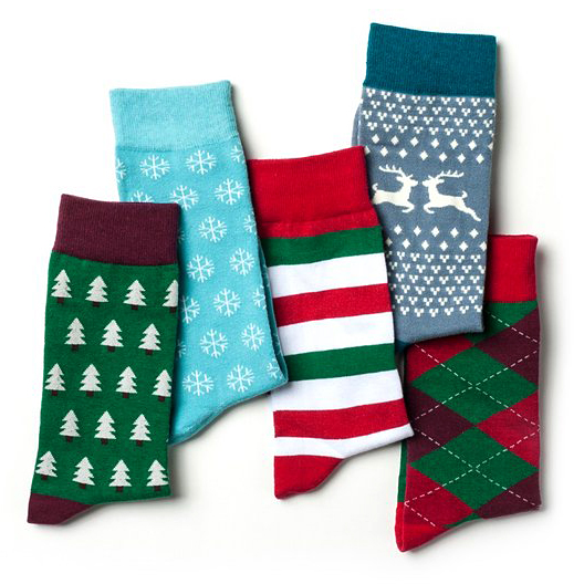 christmas 5-sock pack for men