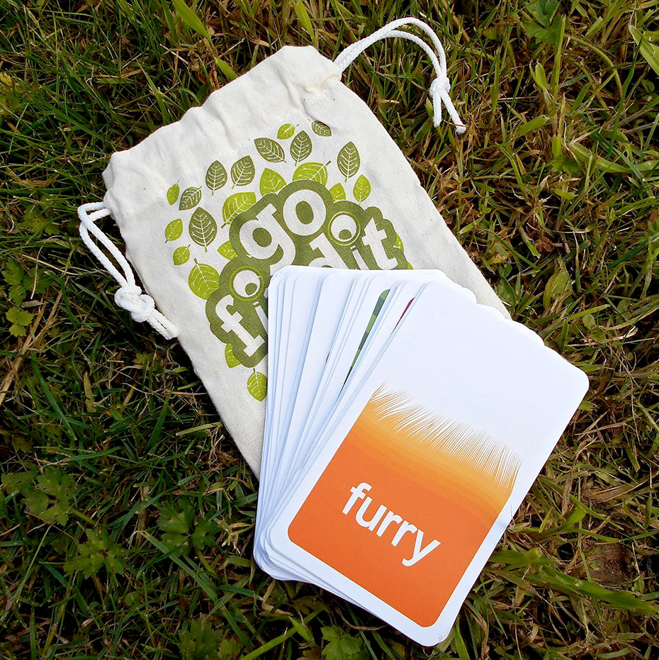 family outdoor scavenger hunt card game