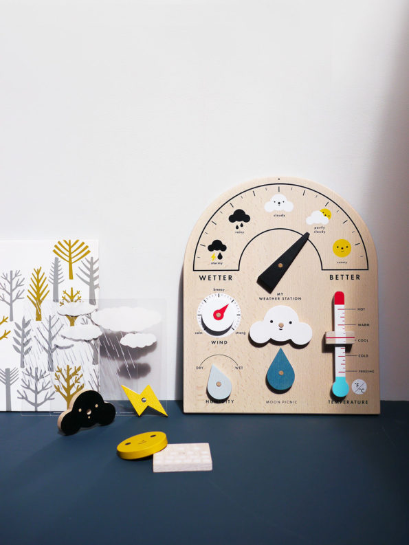 wooden weather-themed toy