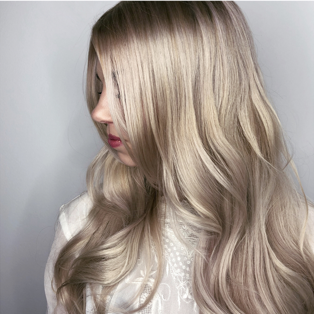 Pearl blonde hair
