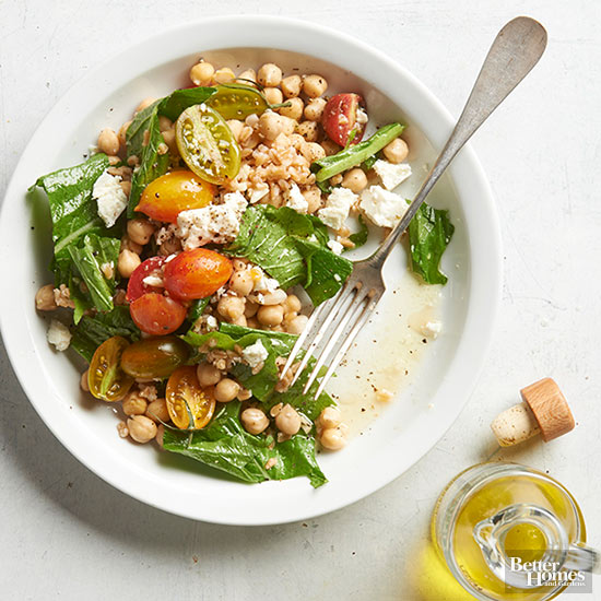 Farro, Chickpeas, and Greens