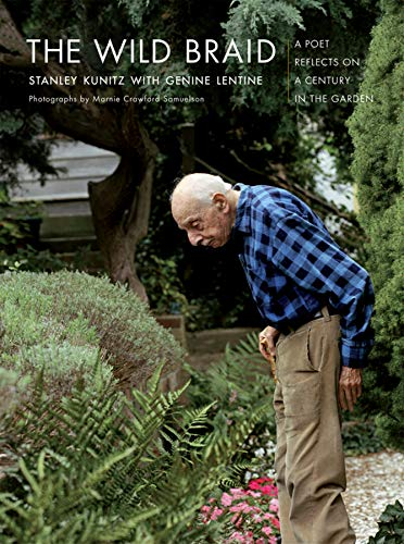 cover of book called The Wild Braid, shows an old man looking at ferns in the garden