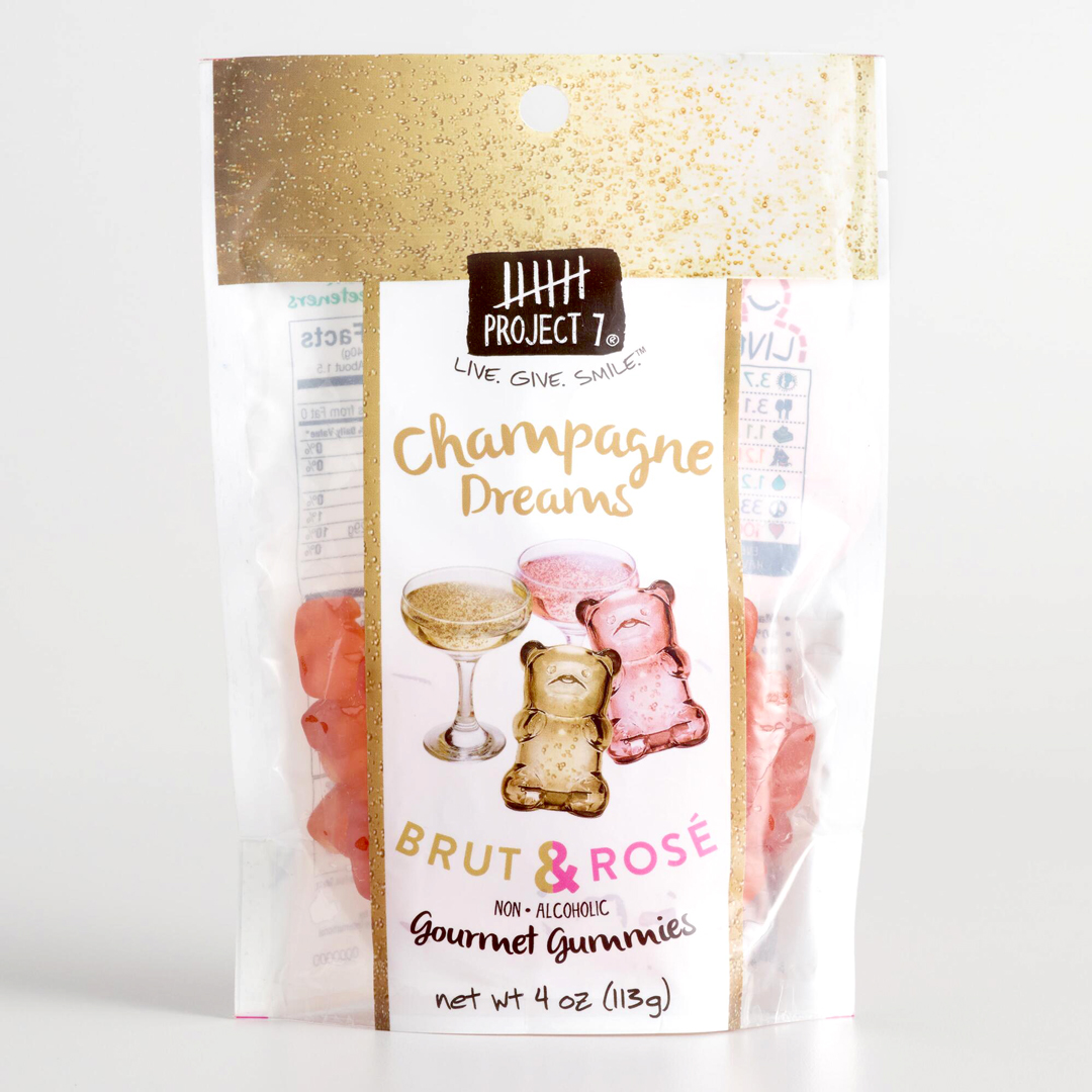 brut and rose champagne gourmet gummie bears