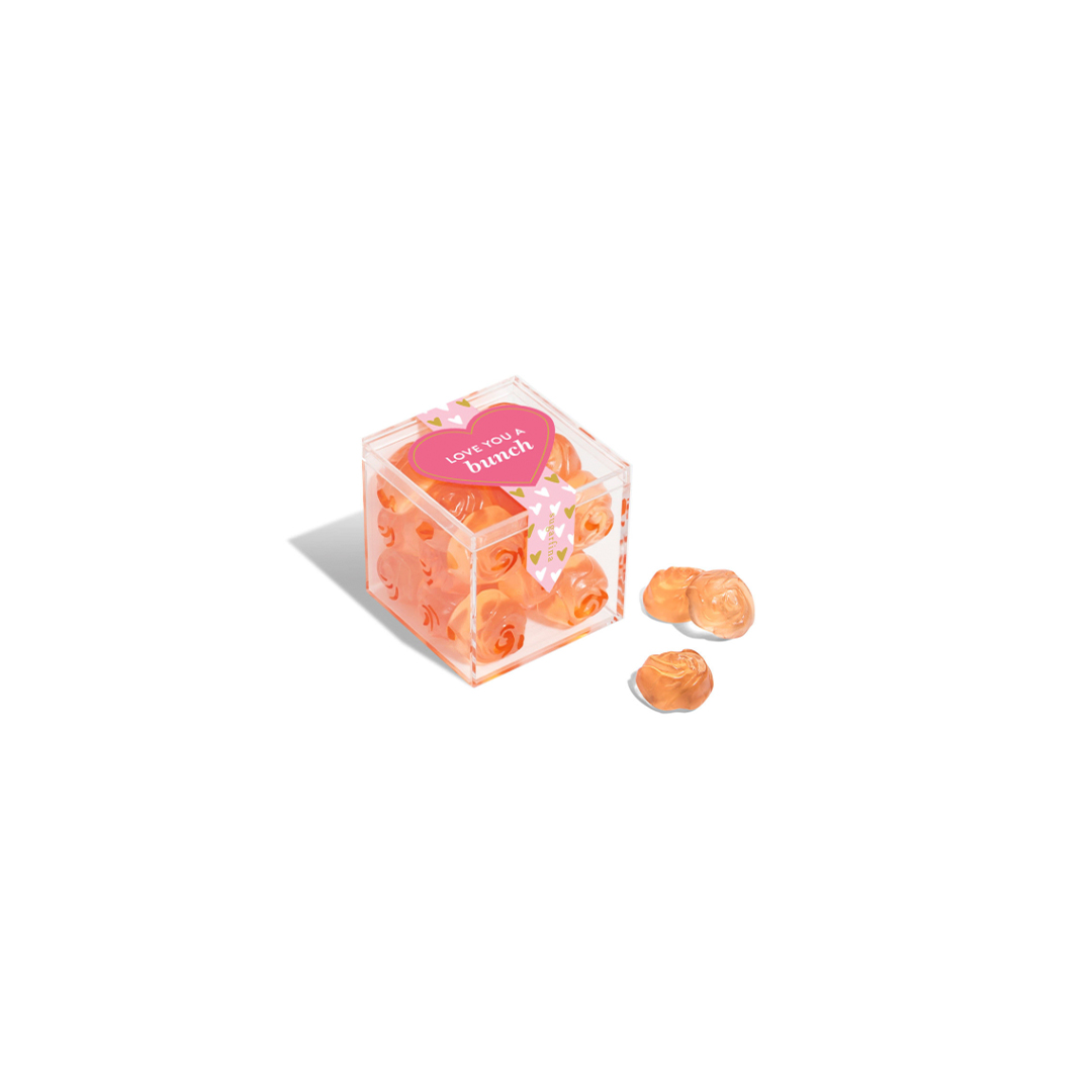 Rosé Roses candies in clear box