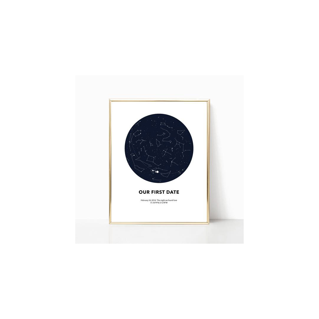 Astrology Print of our first date