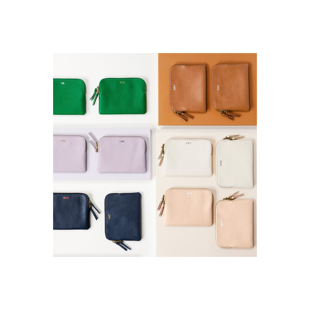 Mini Daily Zip Pouch in various colors