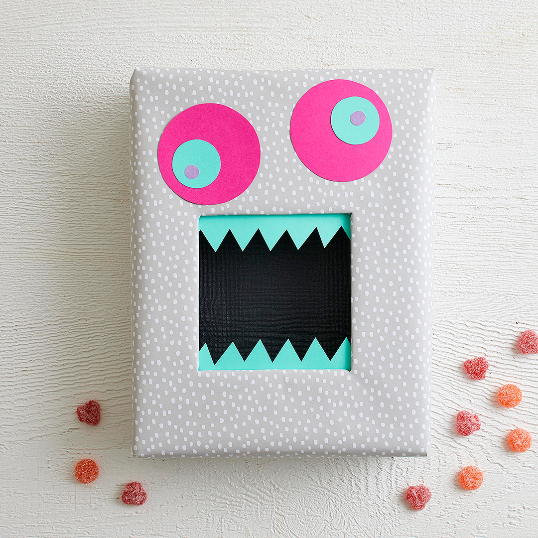 box decorated with monster face