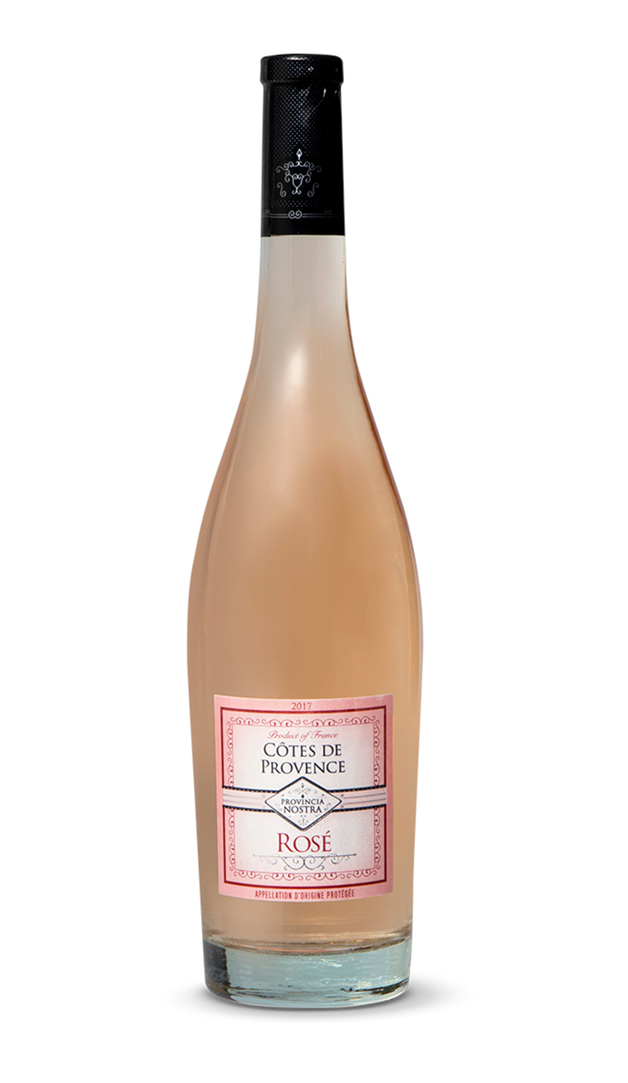 Aldi Cotes de Provence Rose on white background