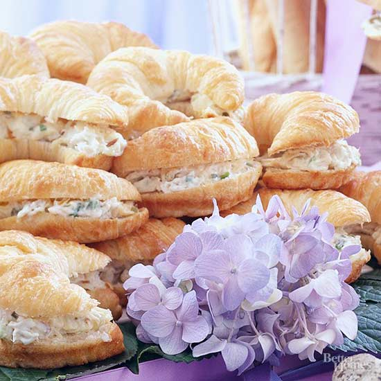 Tarragon Chicken Salad Mini Croissants