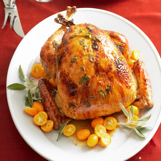 Apple Brandy- and Sage-Glazed Turkey