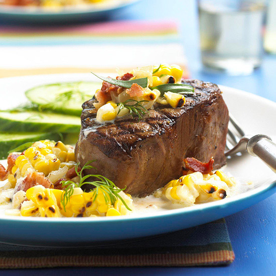 Tenderloin with Grilled Corn Relish