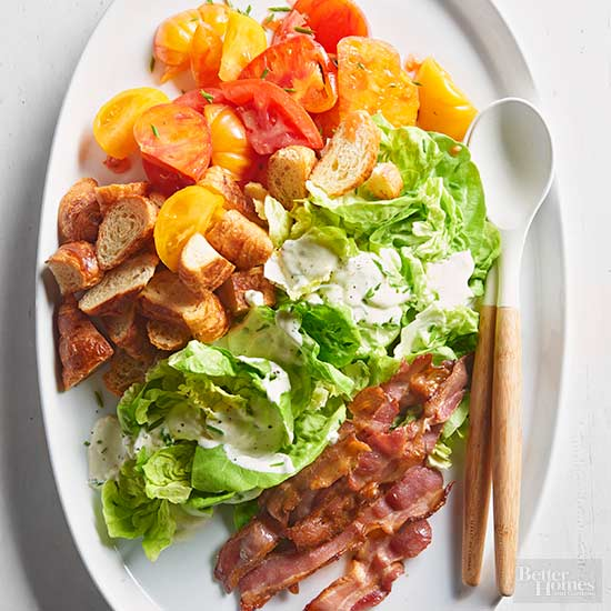 BLT Salad with Creamy Chive Dressing Anna Kovel