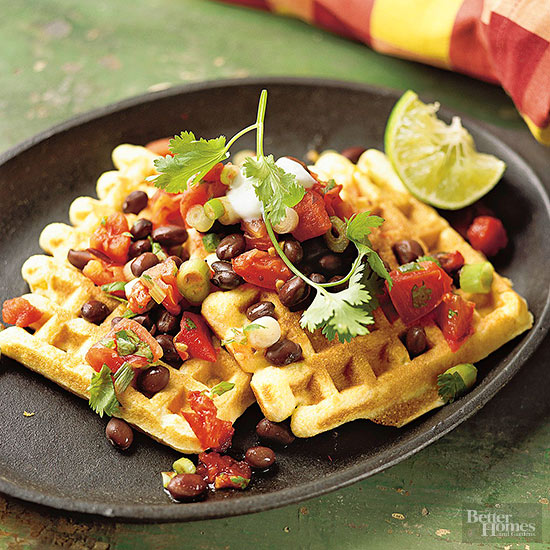 Corn Waffles with Tomato Salsa