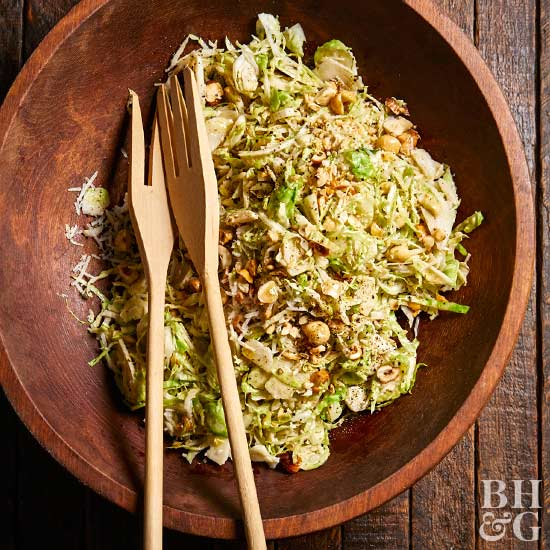 Brussels Sprouts Salad with Hazelnuts
