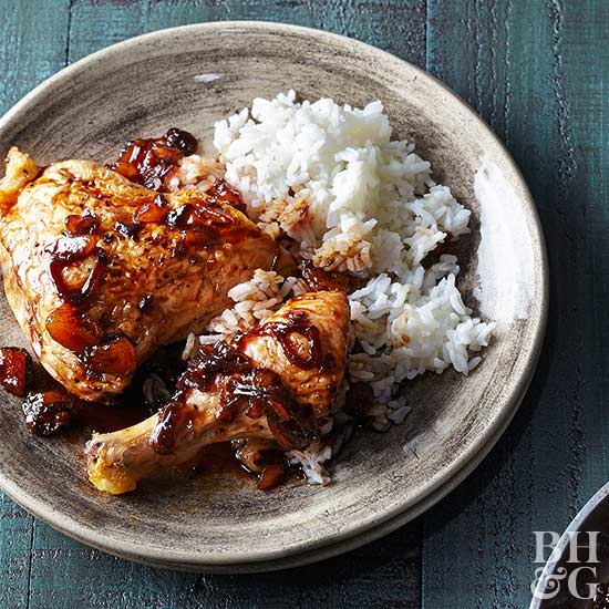 Chicken in Honeyed Chipotle Tequila Sauce
