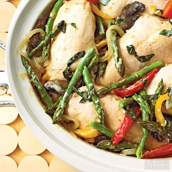Creamy Basil Chicken and Vegetables,
