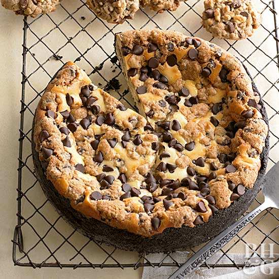 Chocolate Chip-Cookie Dough Cheesecake