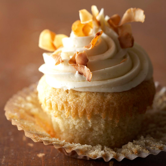 Vanilla Bean-Coconut Cupcakes