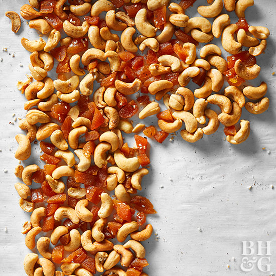 Garam Masala Cashews with Ginger and Apricots