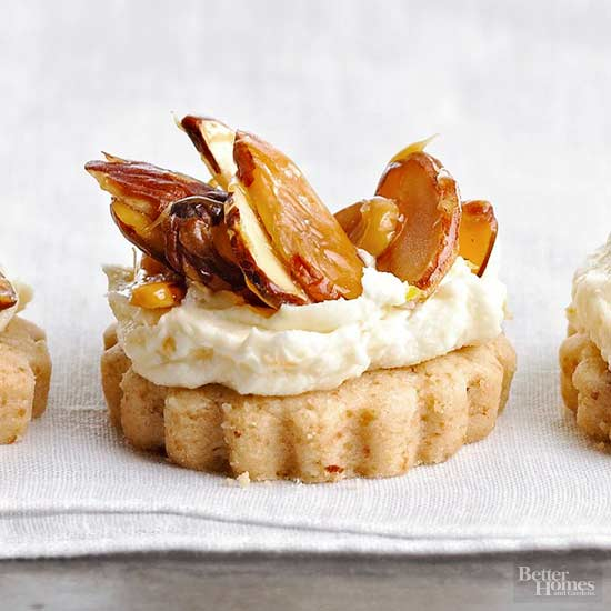 Glazed Almond Shortbread Stacks