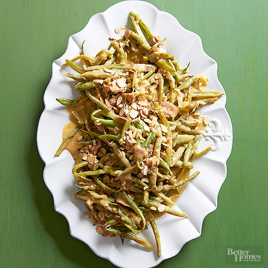 Green Bean Casserole with Prosciutto and Almonds