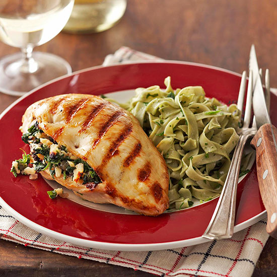 Grillers Stuffed with Spinach and Smoked Gouda