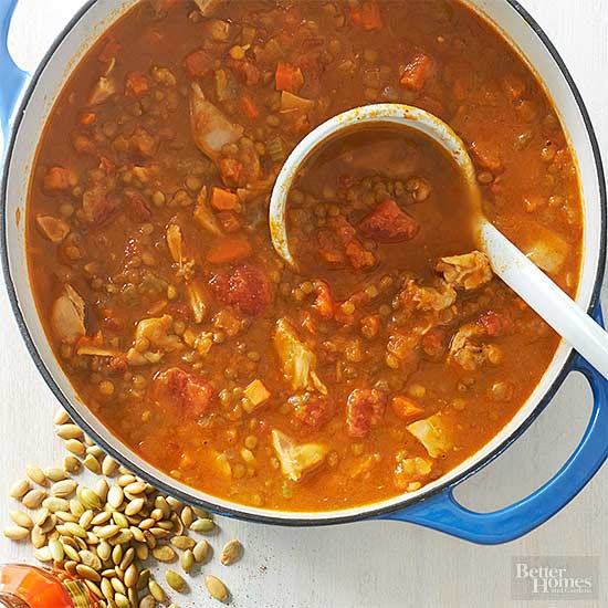 Harvest Chicken Lentil Chili