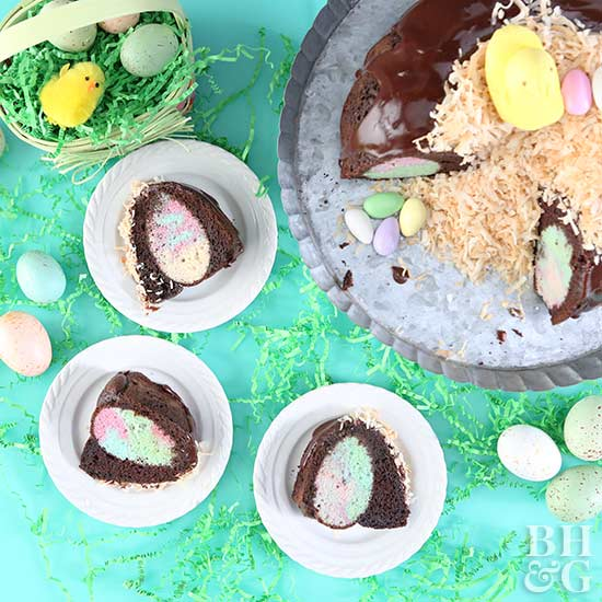 Hidden Egg Bundt Cake