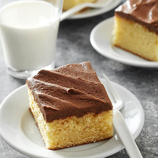 Yellow Cake with Chocolate Butter Frosting