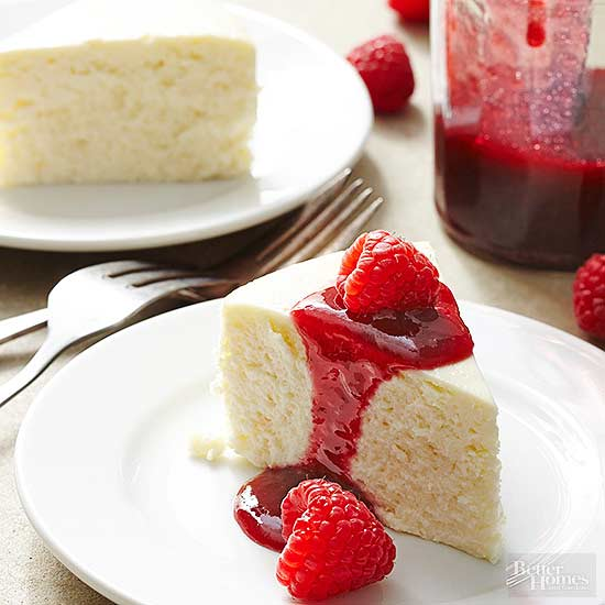 Lemon-Raspberry Cheesecake