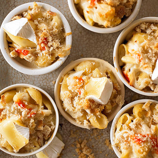 Macaroni with Brie and Crab