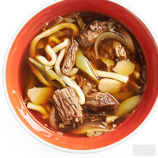 Make-Ahead Beef and Udon Noodle Bowl