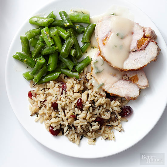 Make-Ahead Turkey Roll TV Dinner