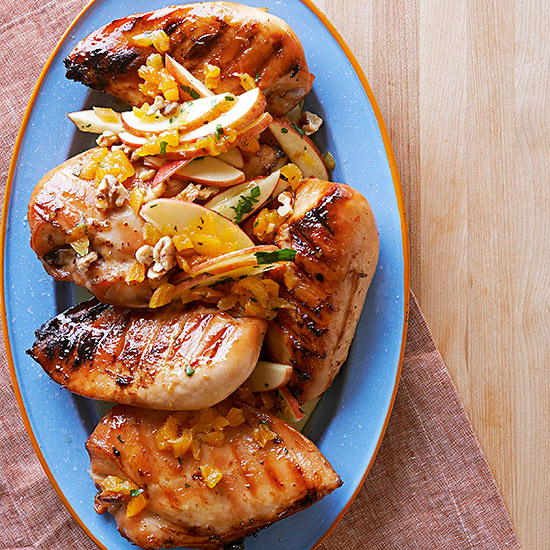 Maple-Brined Chicken Breasts with Apple Relish