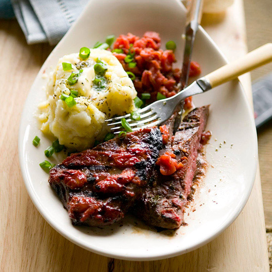 Flank Steak with Chunky Ketchup