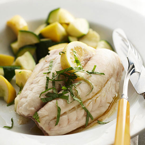 Minted Red Snapper with Zucchini